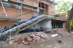 Haupttreppe während der Renovierung