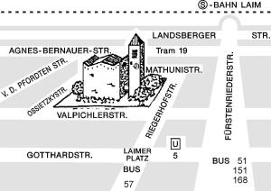Anfahrtsplan zur Kirche