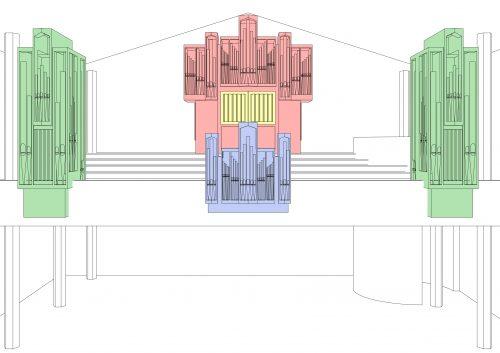 Orgelplan perspektivisch